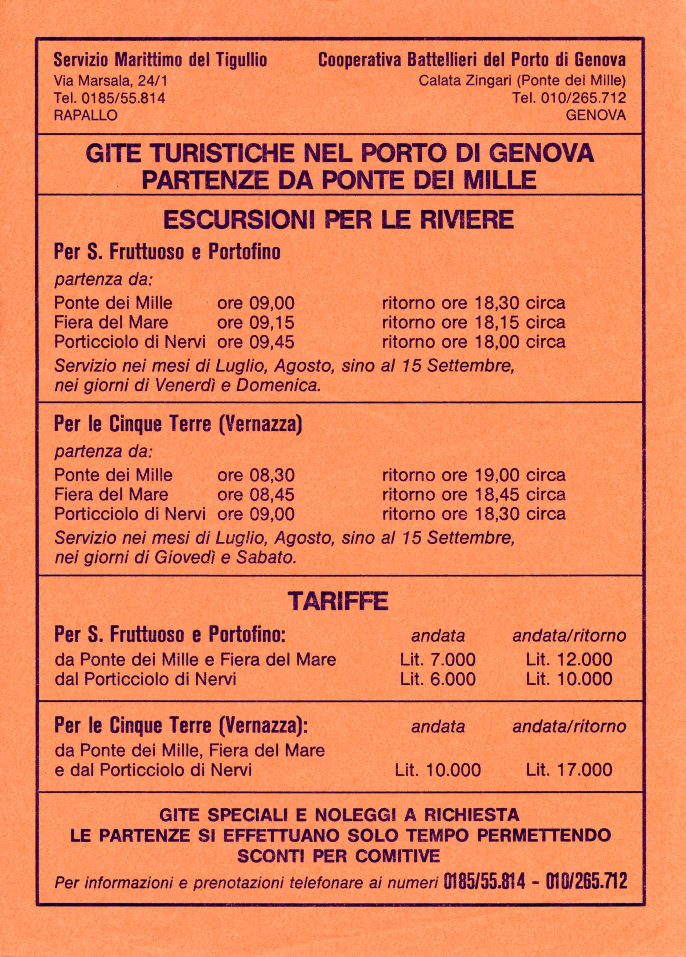 Precedente Successiva · Depliant Servizio Marittimo e Cooperativa  Battellieri 77a92182814