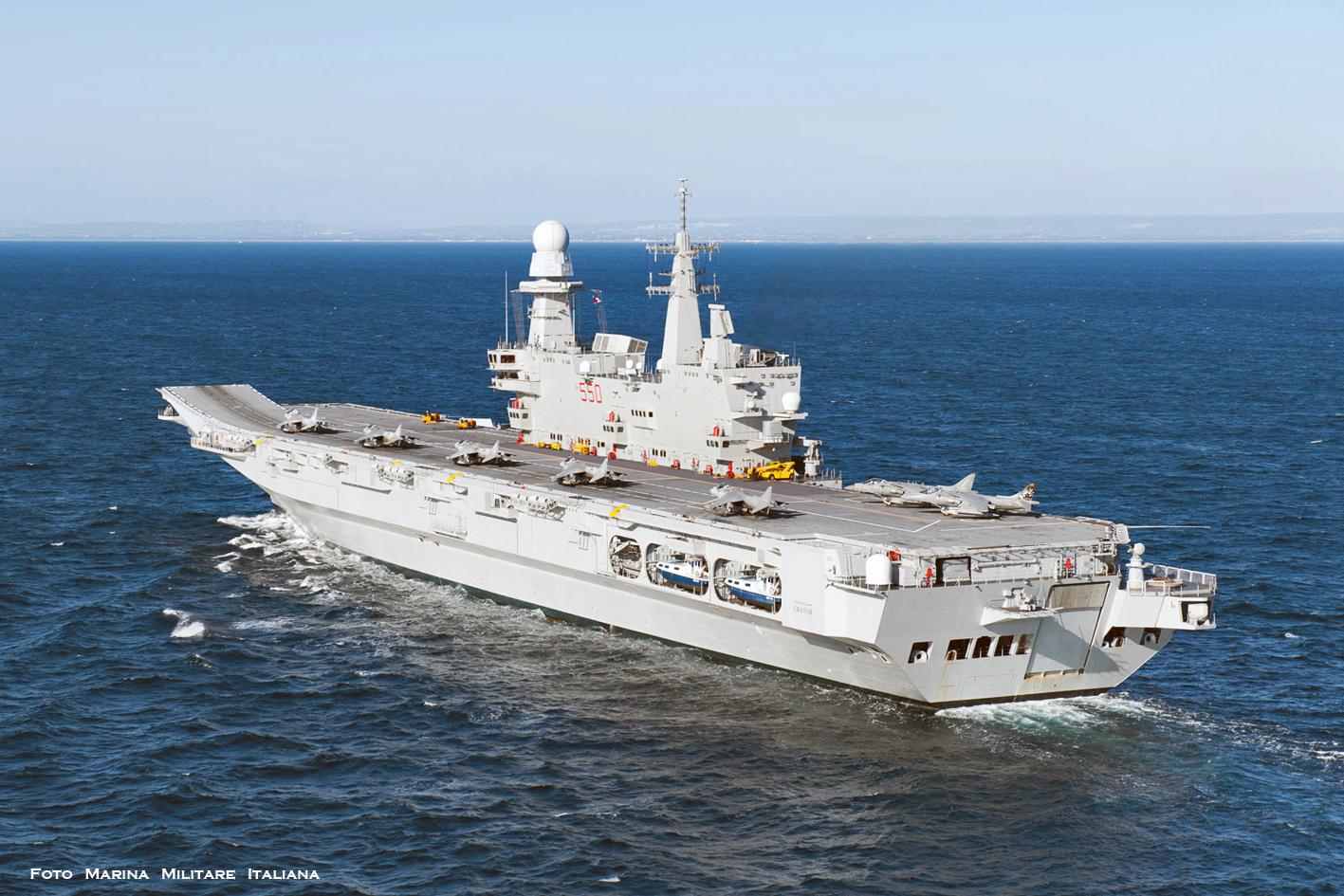 Navi e armatori approdi di passione - Cavour portaerei ...
